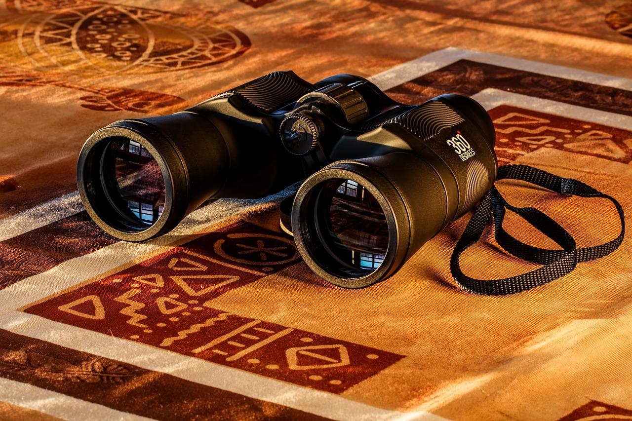 binoculars, lenses, vision